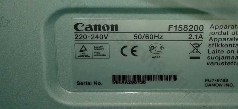 Canon F 158 200 Printer Driver